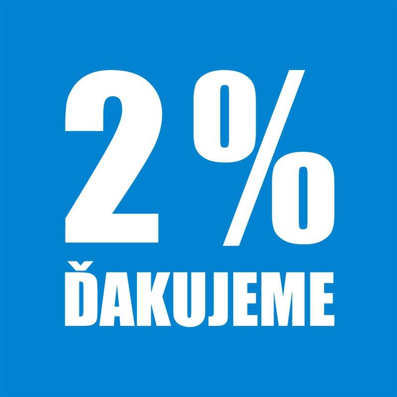 po 2 percenta - 2% dane