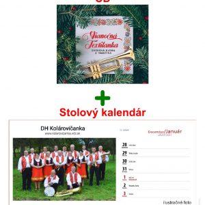 Vianočná Textilanka CD + stolový kalendár Dychovka